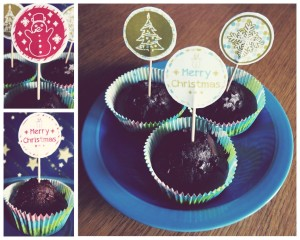 Holiday Cupcake Toppers Preview