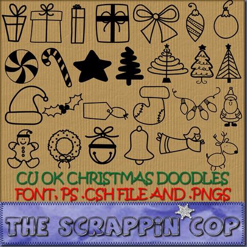 SC-CU Christmas Doodles
