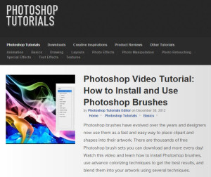 Photoshop Video Tutorial - How to Install and Use Photoshop Brushes