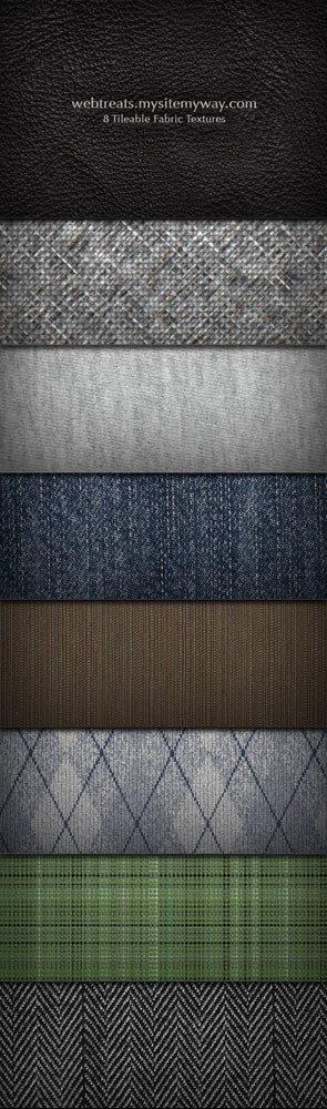 8 Tileable Fabric Textures Patterns