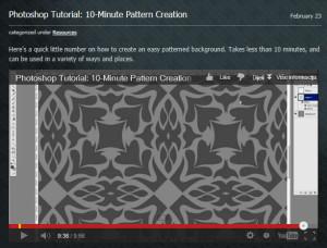 Photoshop Tutorial - Pattern Creation
