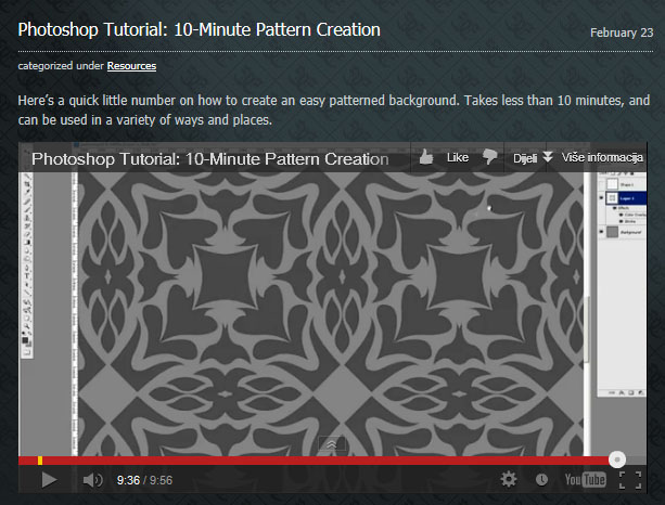 Photoshop Tutorial - Pattern Creation