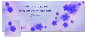 Cherry Trees Timeline Cover Preview
