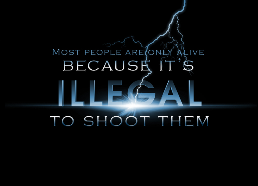 Most People are Only Alive Because it's Illegal to Shoot Them