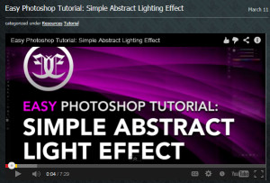 Simple Abstract Lighting Effect