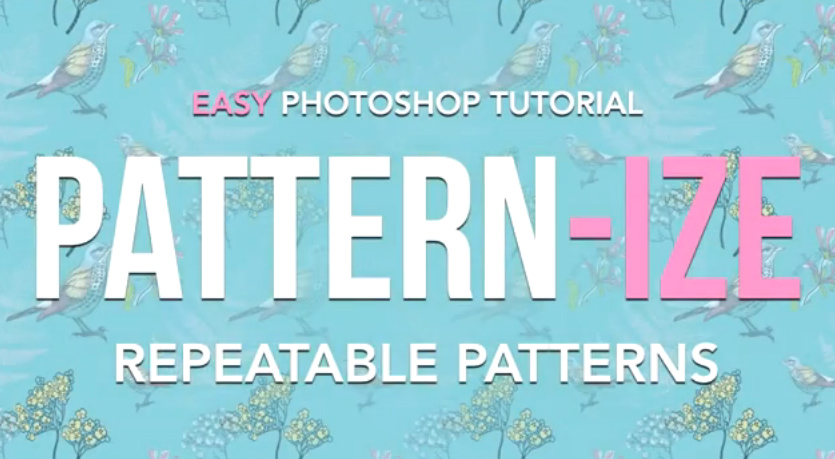 Easy Photoshop Tutorial - Repeatable Patterns