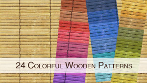 24 Colorful Wooden Patterns