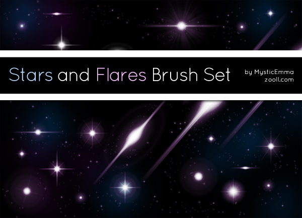 Stars and Flares Brush Set Preview
