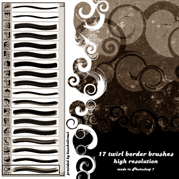 Twirl Border Brushes