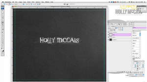 Creating a Chalkboard Effect on Text in Photoshop