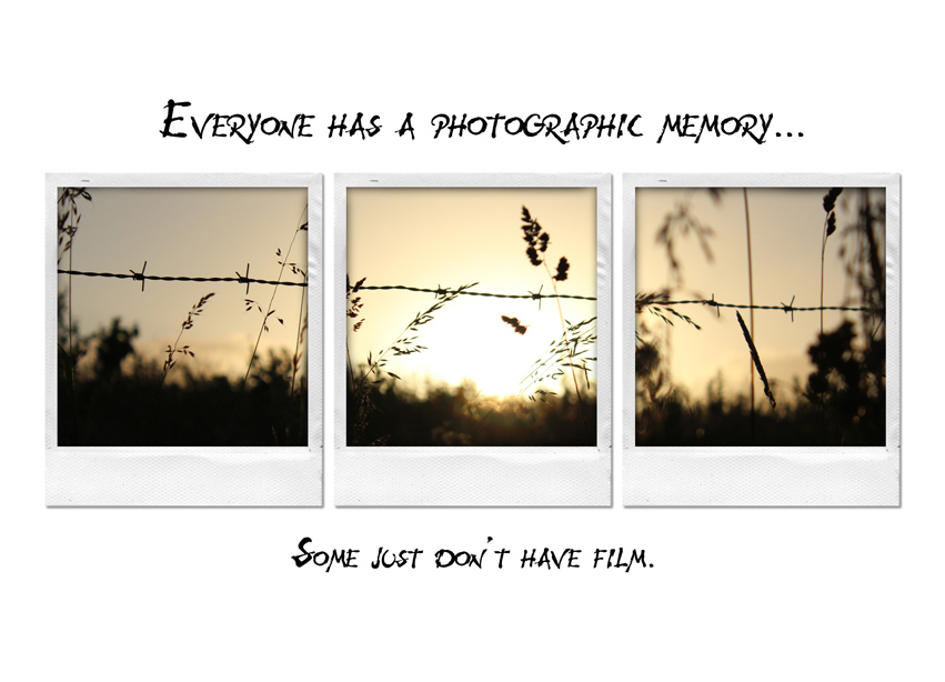 Everyone Has A Photographic Memory… Some Just Don't Have Film