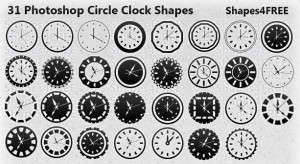 31 Photoshop Clock Shapes for Timeless Design