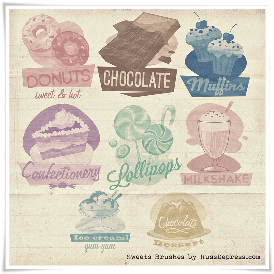 Retro Sweets Shabby Chic High Res PS