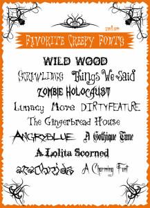 Favorite Creepy Fonts