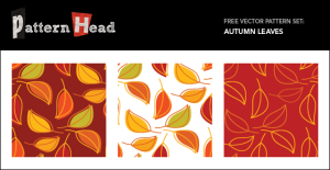 Free Seamlss Vector Patterns - Autumn Leaves