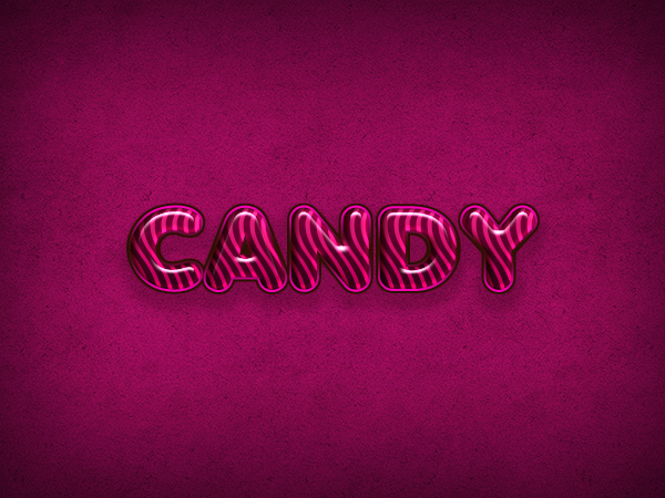 Quick Tip - Create a Candy Flavored Text Effect in Photoshop