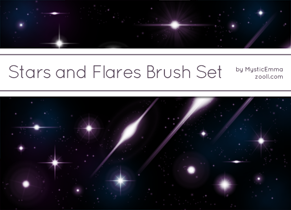 Stars and Flares Brush Set Preview ZOOLL