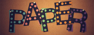 Dot-Cutout Paper Text Effect