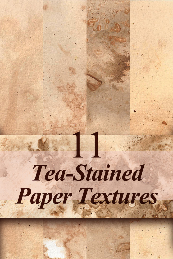 Tea-Stained Paper Textures