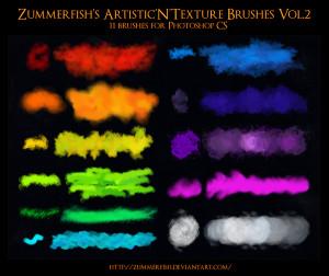 Zummerfish's Artistic N Texture Brushes Vol2