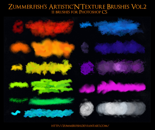 Zummerfish's Artistic N Texture Brushes Vol2