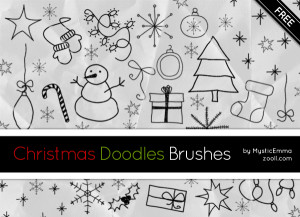Christmas Doodles Brushes Preview