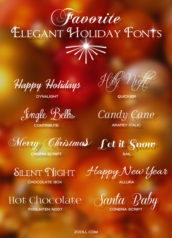 Favorite Elegant Holiday Fonts