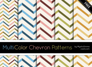MuliColor Chevron Patterns Preview