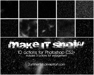 Make it snow!! actions