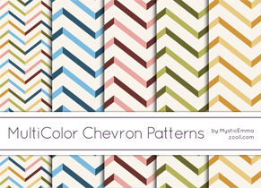 MuliColor Chevron Patterns Preview ZOOLL