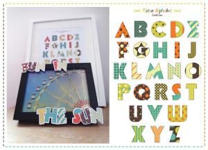 Retro Alphabet Preview