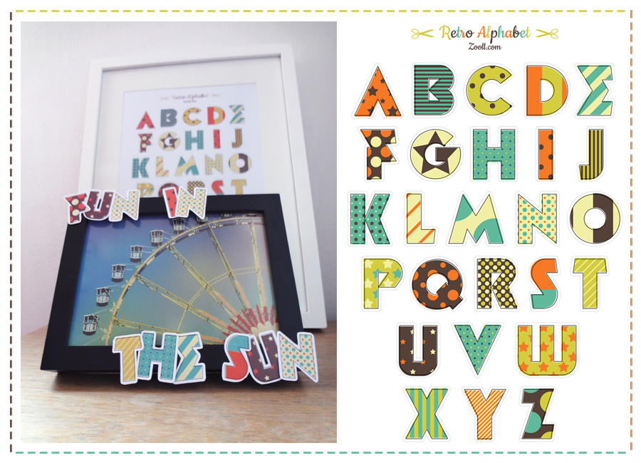 Retro Alphabet Preview