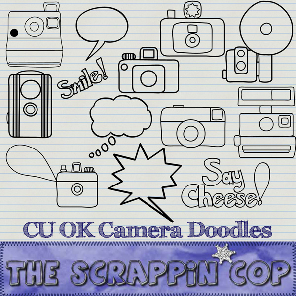 SC OK Camera Doodles Custom Shapes and pngs