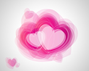 How to create abstract Valentine's Day illustration with hearts in Photoshop CS5