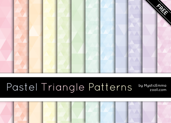 Pastel Triangle Patterns Preview