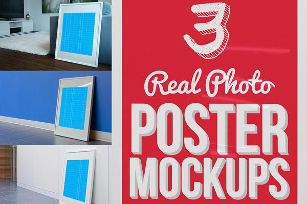 3 Real Photo Poster Mockups
