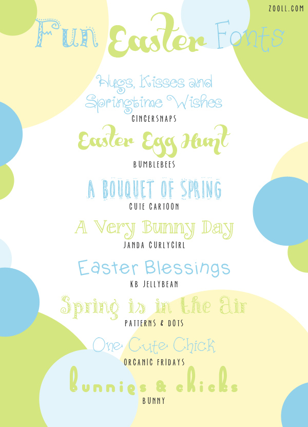 Fun Easter Fonts