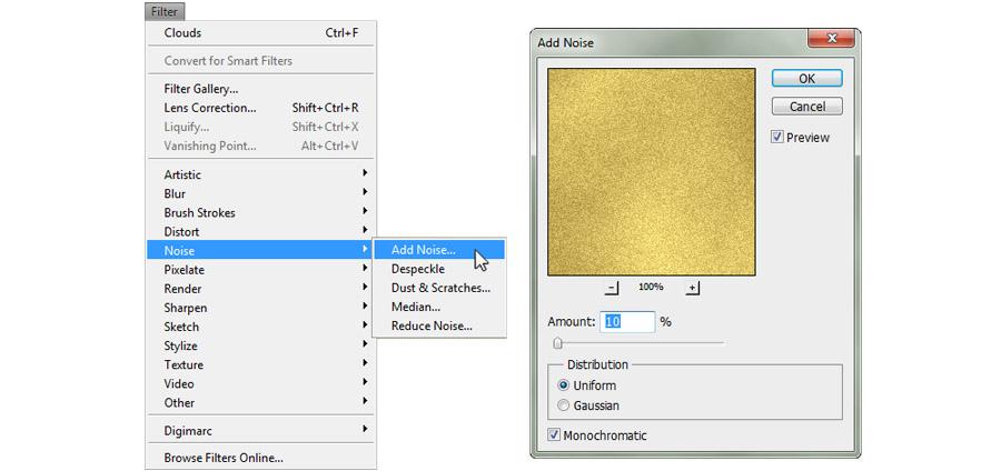 Gold Foil Text 2
