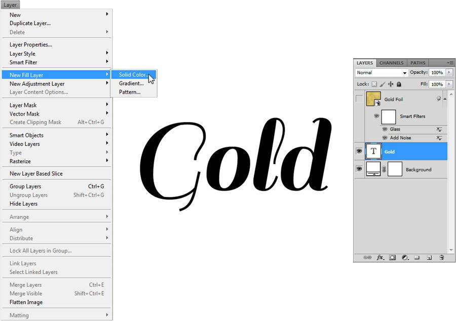Gold Foil Text 4