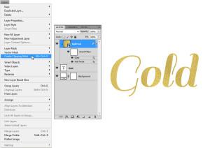 Gold Foil Text 5