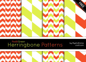 Red&Green Herringbone Patterns Preview