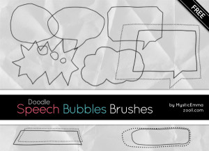 Doodle Speech Bubbles Brushes Preview