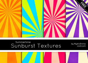 Summertime Sunburst Textures Preview