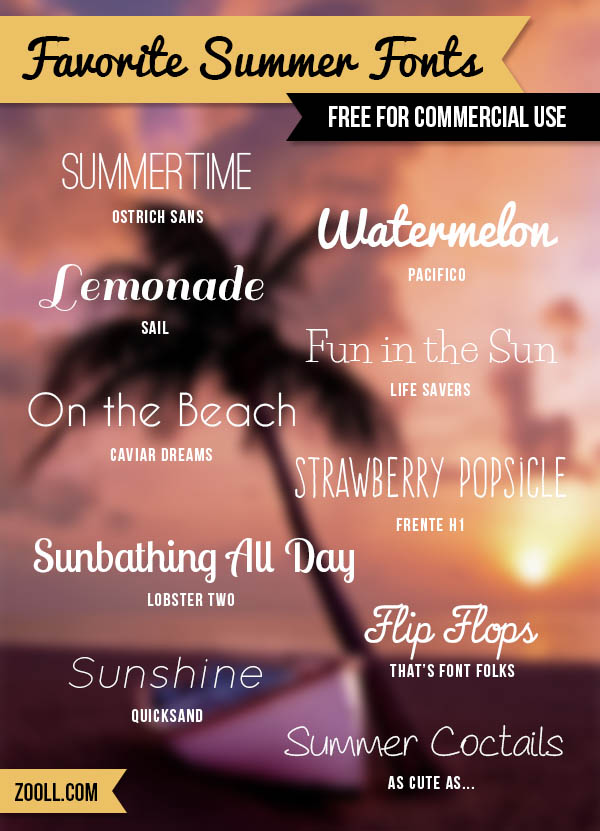Favorite Summer Fonts