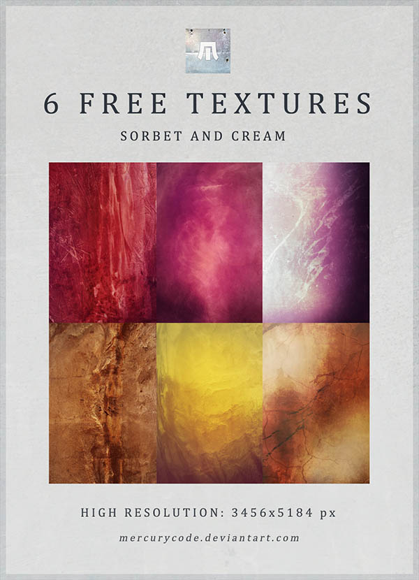 6 Free Textures Sorbet and Cream