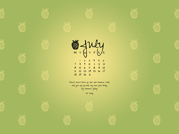 Desktop Wallpaper July 2014 Preview