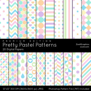 Pretty Pastel Patterns Premium Edition Preview