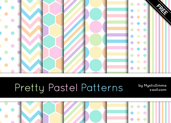 Pretty Pastel Patterns Preview