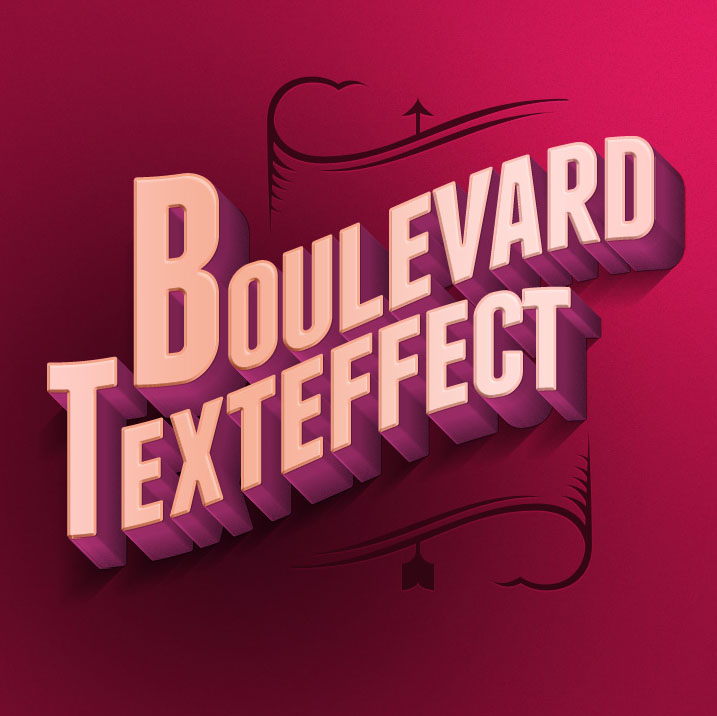 Psd Boulevard Retro Text Effect