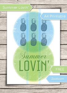 Summer Lovin' Printable Preview